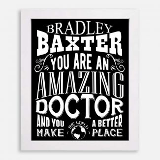 Doctor Amazing Custom Gift For Physician Pediatrician Orthopedic Medicine Typography Personalized #1168
