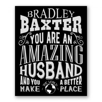 Husband Amazing Custom Plaque Tin Sign
