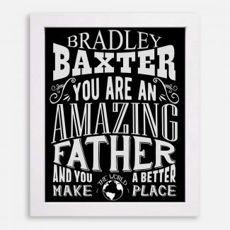 Father Amazing Custom Gift For Dad Father From Wife Sister Mother or Kids Father's Day Personalized #1186