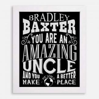 Uncle Amazing Custom Gift From Niece Nephew Sister Brother Family Typography Personalized #1189