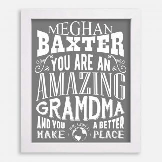 Grandma Amazing Custom Gift From Grandchildren Grandkids Grandfather Mother Typography Personalized #1196