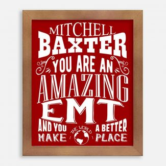 EMT Amazing Custom Gift Emergency Medical