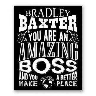 Boss Amazing Custom Plaque Tin Sign