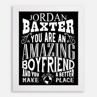 Boyfriend Amazing Custom Gift for Men Boyfriend Anniversary Birthday Valentine Typography Personalized #1270