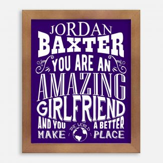Girlfriend Amazing Custom Gift for Women Girlfriend Wife Anniversary Valentine Typography Personalized #1271