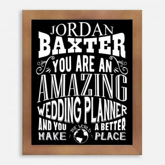 Wedding Planner Amazing Custom Thank You Gift for Wedding Planner After Married Typography Personalized 1311