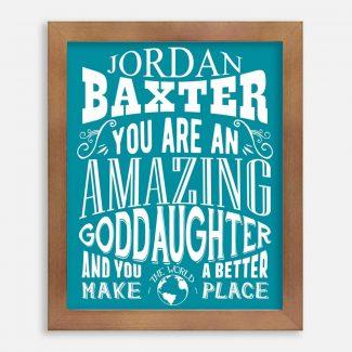 Goddaughter Amazing Custom Gift From Godparent