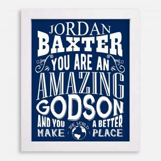 Godson Amazing Custom Gift From Godparent