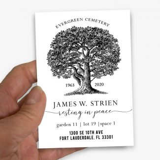Cemetery Card Magnets