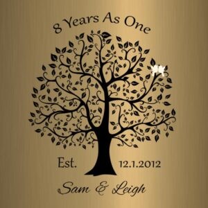 Read more about the article Personalized 8 Year Anniversary Gift Custom Art Proof for Sam S.