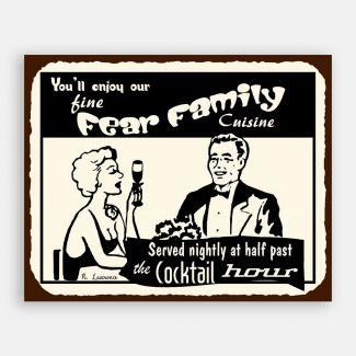 Fine Family Cuisine Custom Retro Tin