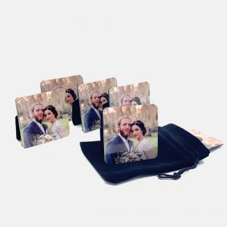 Mini Metal Wedding Photo Set