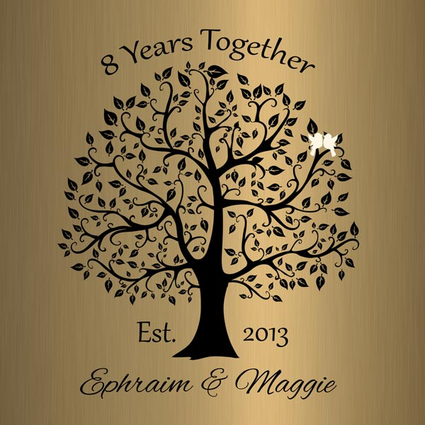 Personalized 8 Year Anniversary Gift Custom Art Proof for Margaret B.
