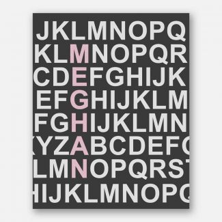 Pink Letters Name Alphabet For Kids