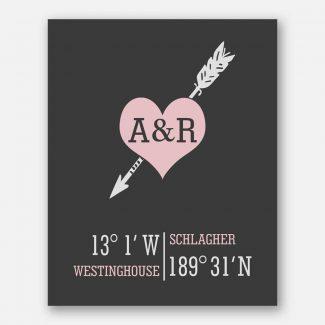 Arrow Through Heart Ampersand Coordinates