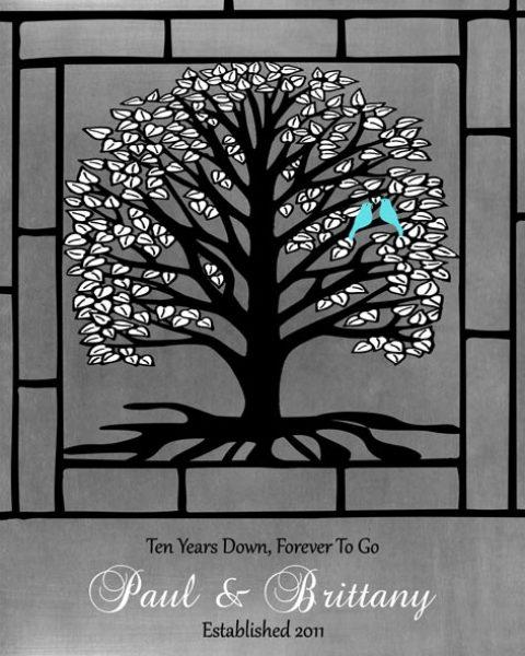 Custom 10 Year Anniversary Gift Art Proof for Paul H.