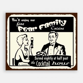 Fine Family Cuisine Custom Retro Tin