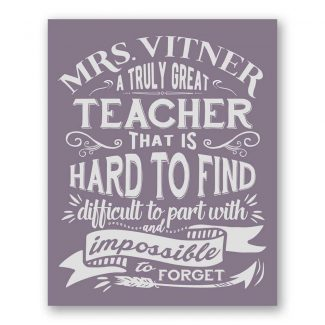A Truly Great Teacher Hard To