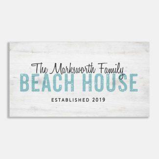 Custom Beach House Established Date #LT-1008
