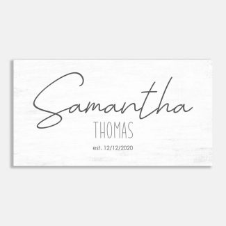Typography First Name and Last Name Farmhouse Decor #LT-1012