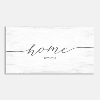 Home Established Date Entryway Wall Decor #LT-1018