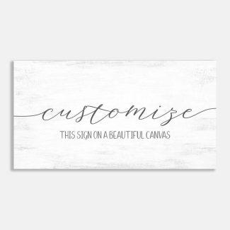 Custom Typography Farmhouse Décor Wall Art #LT-1024