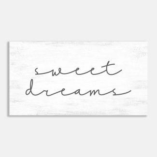 Sweet Dreams Farmhouse Typography Wall Art