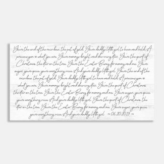 Custom Song Lyrics or Wedding Vow