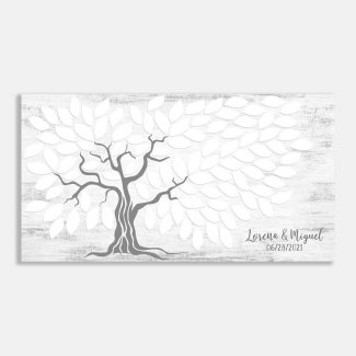 Wedding Tree Guest Book Alternative, Gray