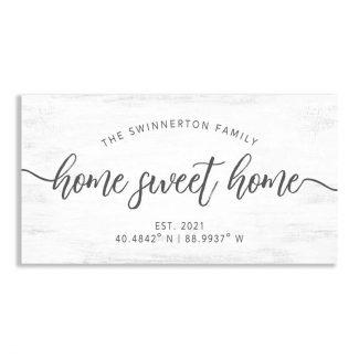 Home Sweet Home Family Name Coordinates