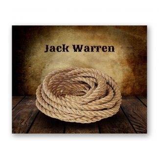 Cowboy Lasso Rope on Wood Table Vintage Background Personalized Cowboy Art Print For Childrens Room Boys Room Nursery Western #TCH-1013