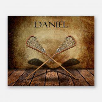 Lacrosse Sticks Racquet Crosse on Wood