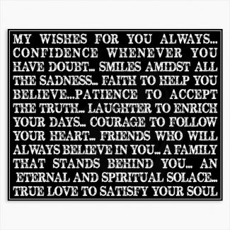 My Wishes For You Always Gift From Mom Custom Typography Tin Metal Sign #1271