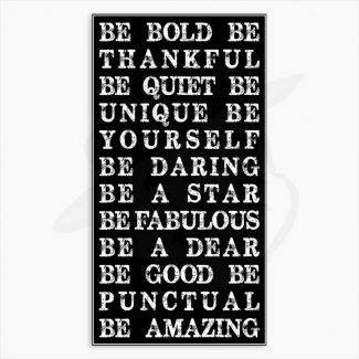 Be Bold Be Amazing Custom Tin Metal Sign #1272
