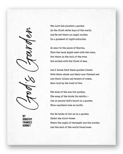 God's Garden Poetry by Dorothy Frances Gurney