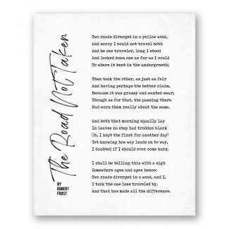 The Road Not Taken – Poetry