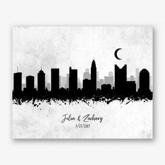 Ink Splatter Skyline Art Print #AB-1001
