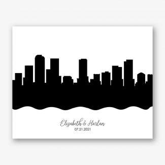 Minimalist Skyline Art Print #AB-1004