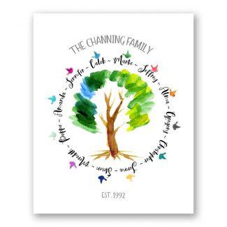Family Tree Circle of Life Art Print #CMW-1001